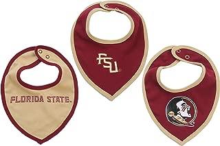 FAST ASLEEP NCAA Florida State Seminoles Bib Set (3 Pcs) for Baby Boy or Girl