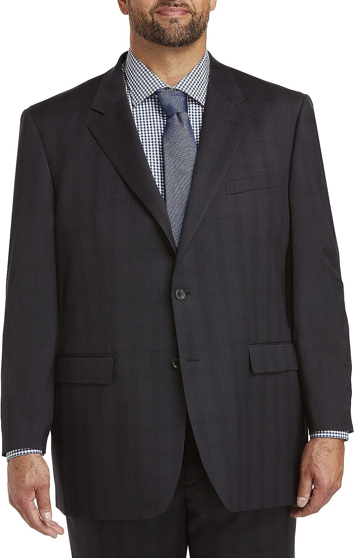 Jack Victor Reflex Tonal Plaid Stretch Suit Jacket, Black