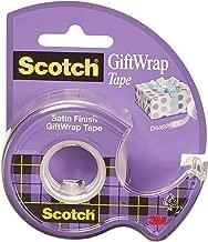 Scotch GiftWrap Tape, Dispensered Roll 19mm x 16.5m - 1 roll