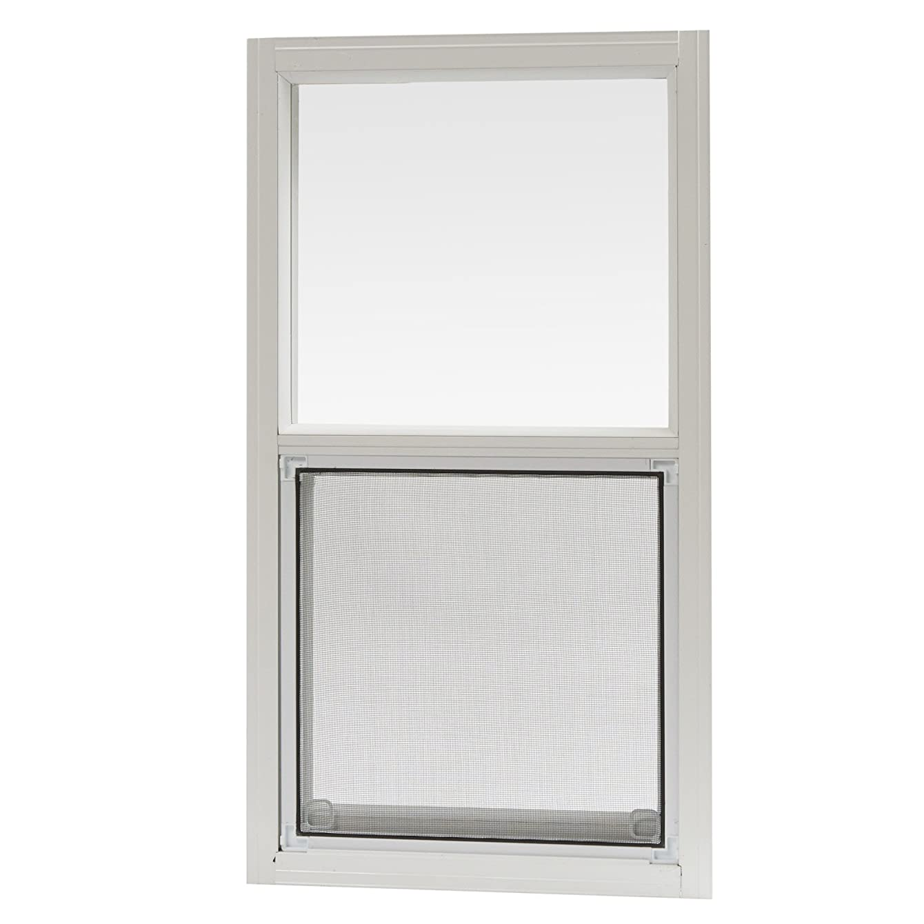 Park Ridge Products AMHW1427PR Park Ridge 14 in. x 27 in. Aluminum Mobile Home Single Hung Window – White,