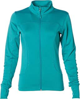 Global Blank Women's Slim Fit Lightweight Full Zip Up Yoga Workout Jacket
