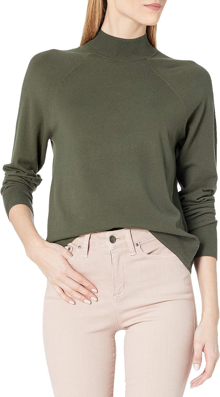 Amazon Brand - Daily Ritual Women's Fine Gauge Stretch Mockneck Pullover Sweater