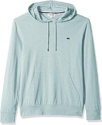 Lacoste Men's L/S Hoodie Jersey T-Shirt W/Central Pocket