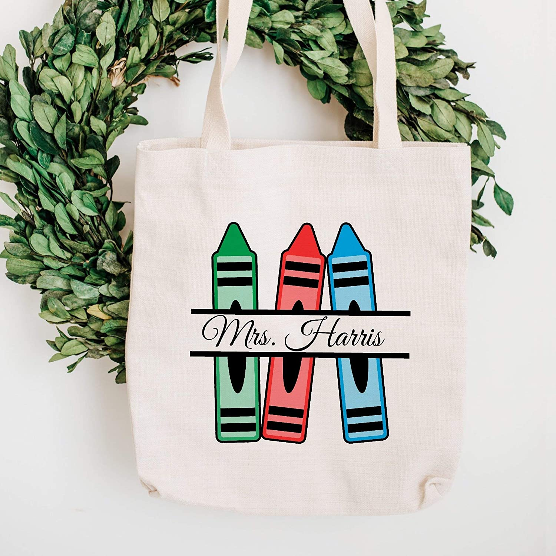 Crayon Outstanding Custom Brand Cheap Sale Venue Name Teacher Bag Tote Beach