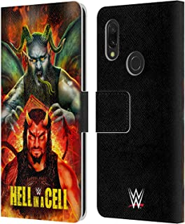 Official WWE Roman & Braun 2018 Hell in A Cell Leather Book Wallet Case Cover Compatible for Xiaomi Redmi 7 (2019)