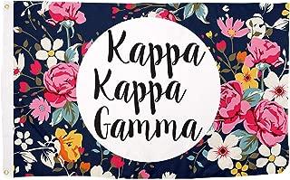 Kappa Kappa Gamma Sorority 3' x 5' Floral Flag Banner Sign Decor KKG