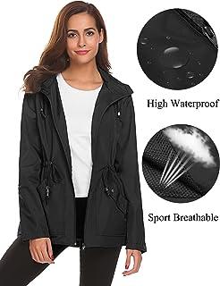 Romanstii Rain Jacket Women Waterproof Hood Lightweight...