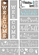 KIBAGA Reusable Stencils for Painting on Wood and More - Easy Paint Welcome Sign Stencil for Front Door, Porch or Outside ...