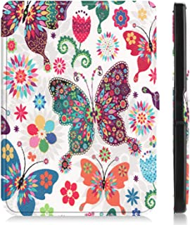 """for Kobo Clara HD 6"""" Tablet Ultra Thin Slim Folio Sleep/Wake Up Leather Case Flip Smart Cover (Color Butterfly)"""
