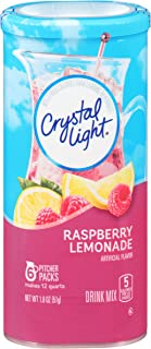 Crystal Light Raspberry Lemonade Drink Mix (72 Pitcher Packets, 12 Canisters of 6)