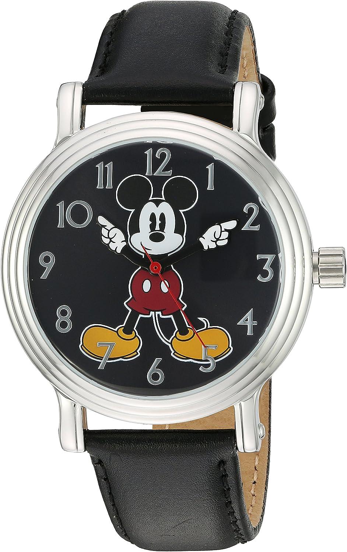 Disney Women's 'Mickey Mouse' Quartz Watch M Rapid rise Color:Black Metal Max 81% OFF