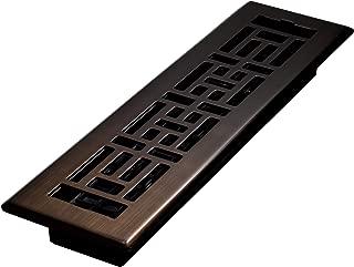 Decor Grates AJH212-RB Floor Register, 2 x 12, Rubbed Bronze