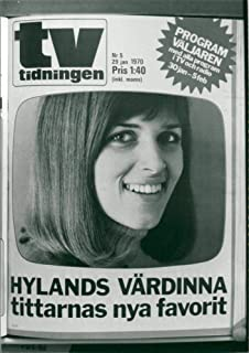 Vintage photo of TV Tidningen Nr 5 January 29, 1970 - Hylands hostess