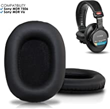 Upgraded Sony MDR 7506 Replacement Ear Pads by Wicked Cushions - Also Compatible with MDR V6 / MDR V7 / MDR CD900ST - Black