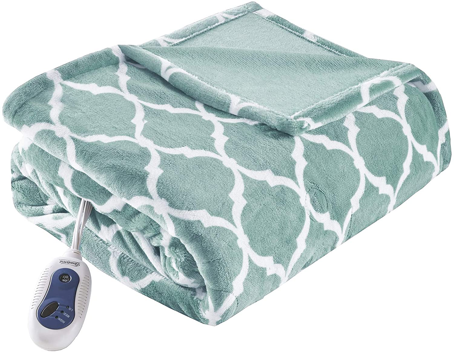 Max 70% OFF Beautyrest Plush Electric Throw Blanket Special sale item Secure Comfort Te –