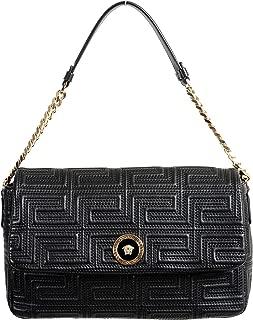 100% Leather Black Women's Shoulder Bag