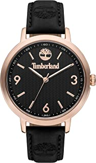 Timberland Kittery Women's Analogue Quartz Watch with Black Dial and Black Leather Strap - TBL.15643MYR-02