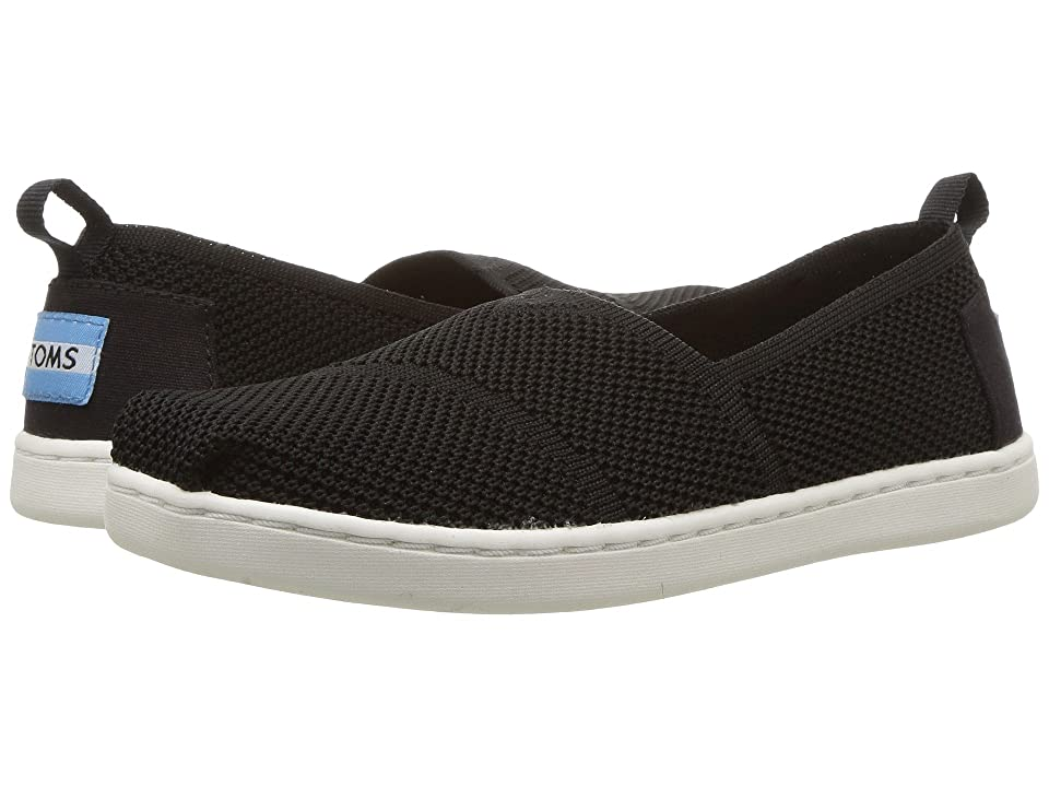 TOMS Kids Knit Alpargata Espadrille (Little Kid/Big Kid) (Black Mesh) Girls Shoes
