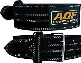 comprar comparacion AQF Cinturon Lumbar Gimnasio para Levantamiento De Cinturon Gym Pesas De Cuero Acolchado De 4