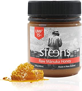 Steens Manuka Honey UMF 15 (MGO 514) 8.8 Ounce jar | Pure Raw Unpasteurized Honey From New Zealand NZ | Traceability Code on Each Label