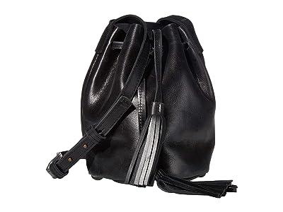 ABLE Maria Bucket Bag (Black) Shoulder Handbags