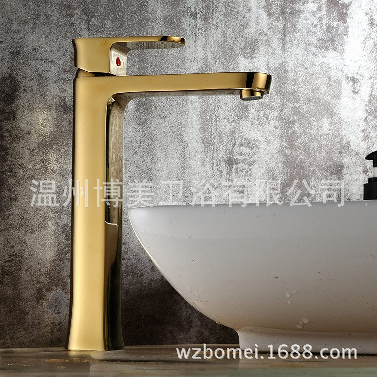 LaLF Basin Tap Brass Kitchen Faucet gold-Plated Faucet Basin hot and Cold Faucet washbasin washbasin Mixer