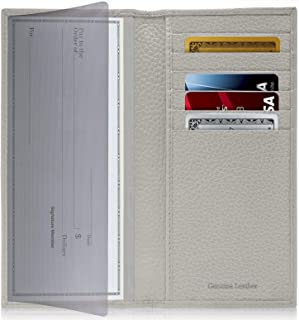 Access Denied Genuine Leather Checkbook Cover for Women & Men - Checkbook Holder Check Book Covers for Duplicate Checks Card Wallet RFID