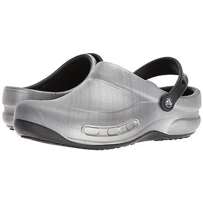 Crocs Bistro Graphic Clog (Metallic Silver) Clog/Mule Shoes