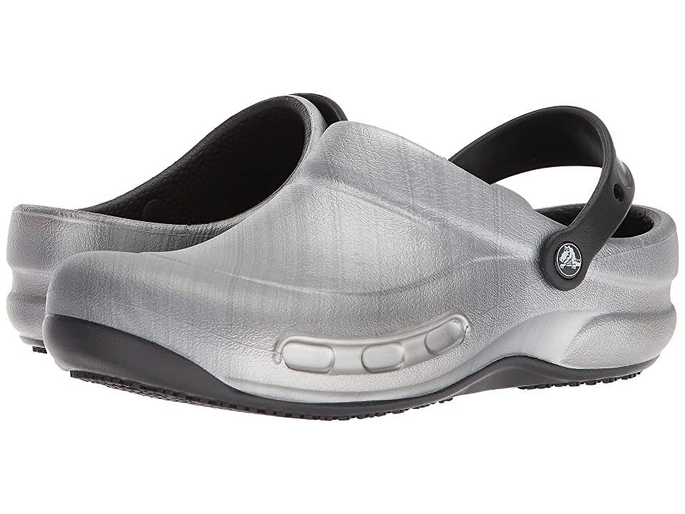 Crocs Bistro Graphic Clog (Metallic Silver) Clog/Mule Shoes