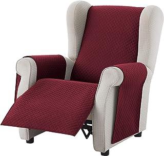 textil-home Salvadivano Copripoltrona Trapuntato Adele - 1 posti - REVESIBLE. Colore Rosso