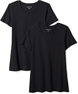 Amazon Essentials Women's 2-Pack Classic-Fit Short-Sleeve...