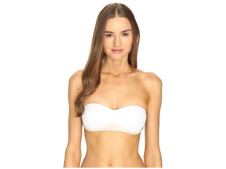Stella McCartney Stella Iconic Bandeau Top (Black/Stone/White) Women