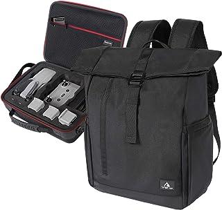 Smatree Mochila Compatible con dji Mavic Air 2 Drone/Mochila para Computadora Portátil con Puerto de Parga USB Pompatible con Pomputadora portátil de 16.1 Pulgadas, Dos Bolsas en una