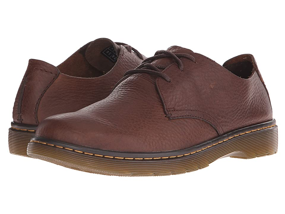 Dr. Martens Elsfield 3-Eye Shoe (Dark Brown Grizzly) Men
