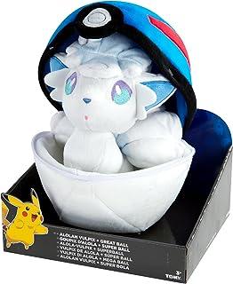 Pokemon T19363D1VULPIX Alolan Vulpix y Pokeball - Peluche (20 cm)