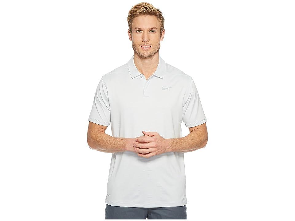 Nike Golf Control Stripe Polo LC (Pure Platinum/Flat Silver) Men