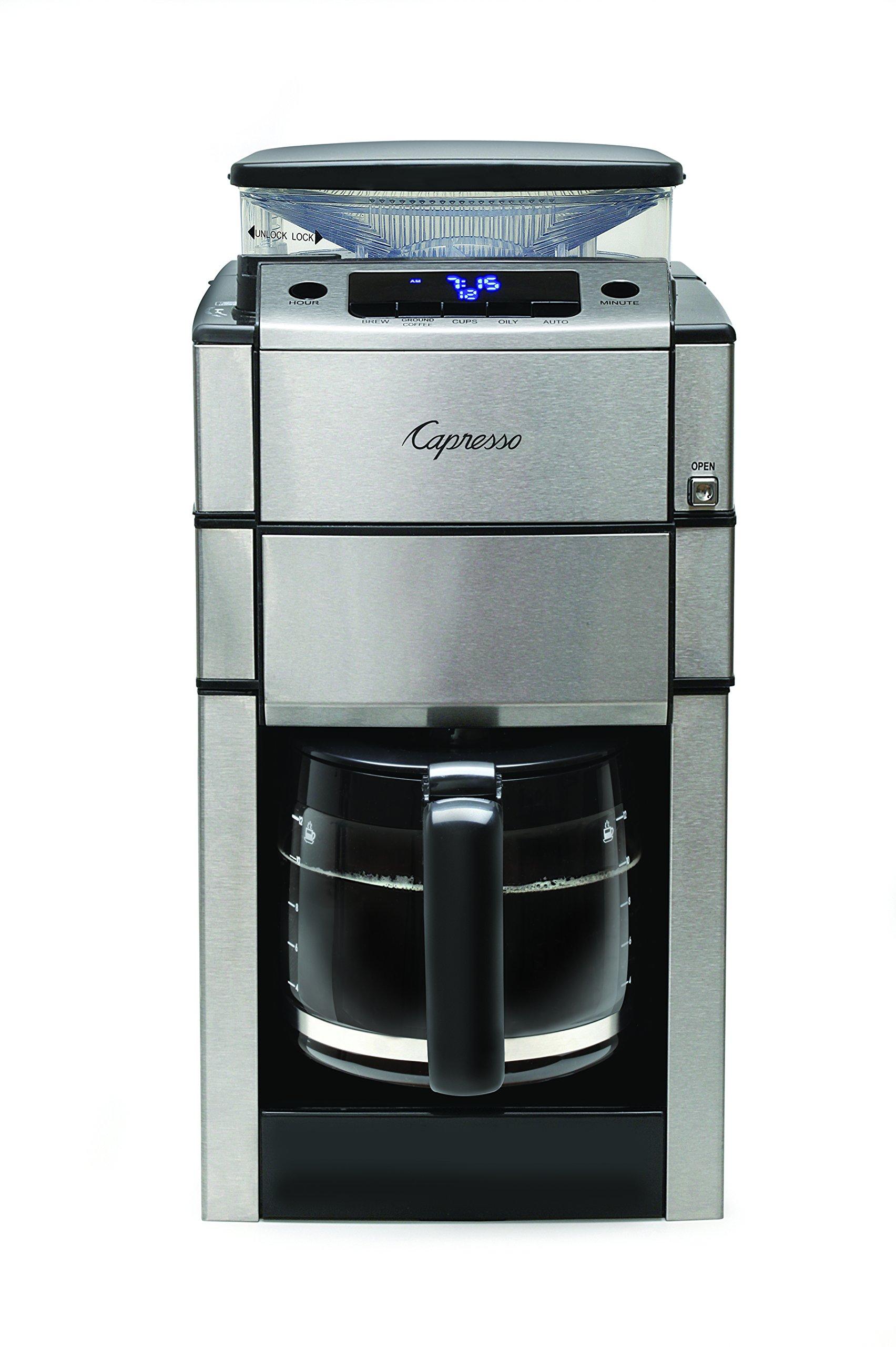Capresso 487.05 Equipo Pro Plus Cristal Jarra cafetera eléctrica, Plata: Amazon.es: Hogar
