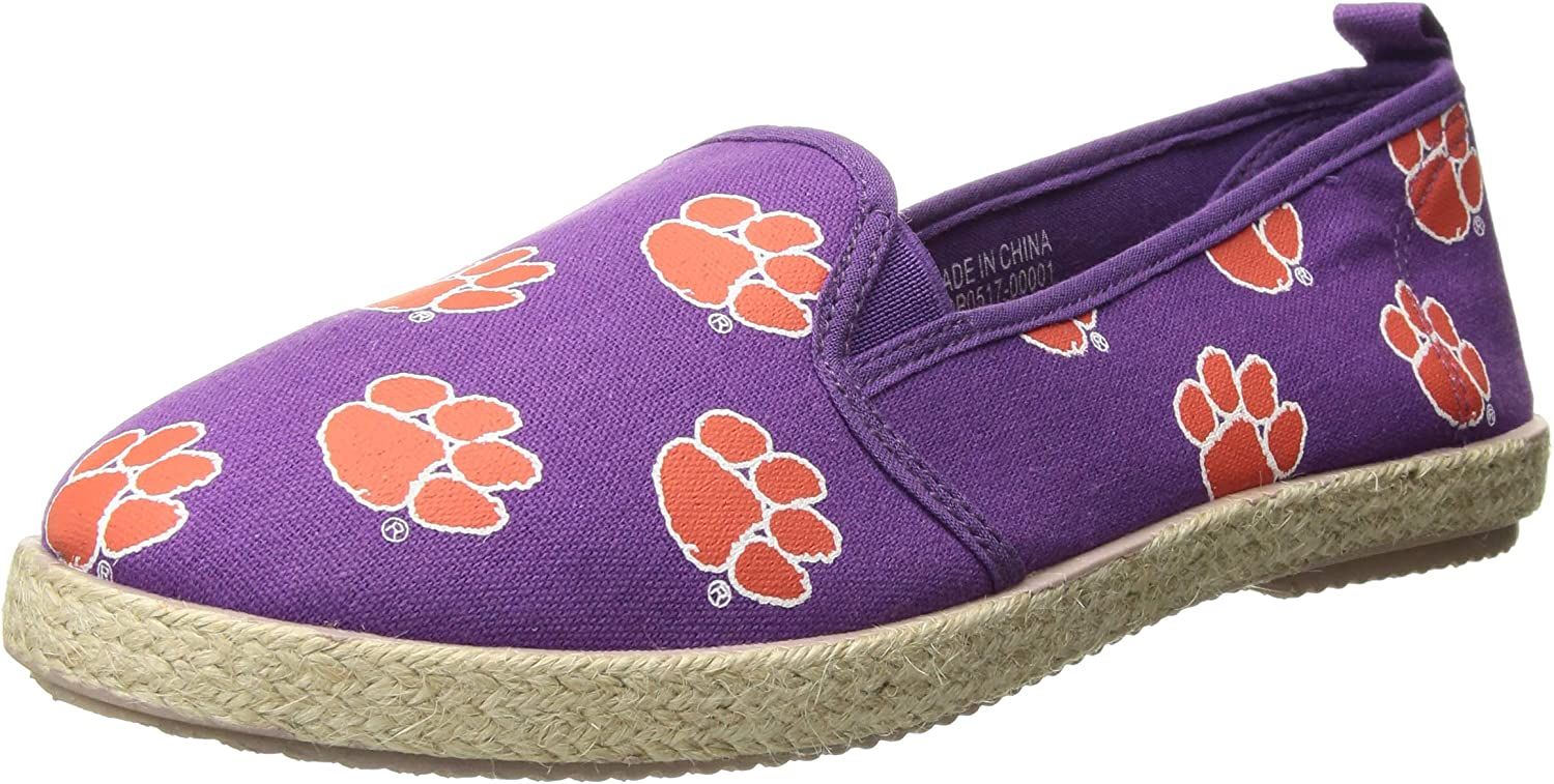 FOCO NCAA Womens NCAA Espadrille Canvas Shoe Womens