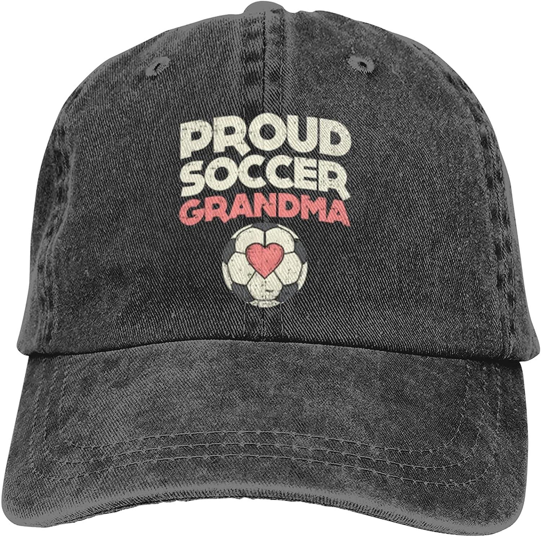 Proud Soccer Grandma Baseball Caps Adult Adjustable Denim Cap Beach Dad Sun Hat Black