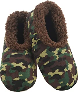 Snoozies Slippers for Men - Mens Slippers - Soft Plush Camo Slippers