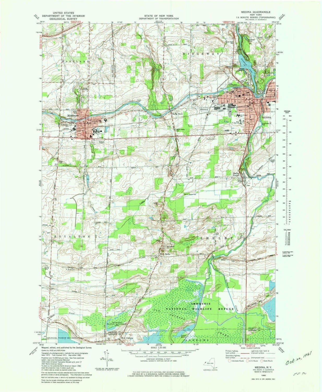 YellowMaps Medina NY topo map Minute shopping Max 51% OFF Scale X 7.5 1:25000