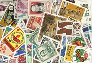 50 Pieces Worldwide Collectible Stamp Collection, All different