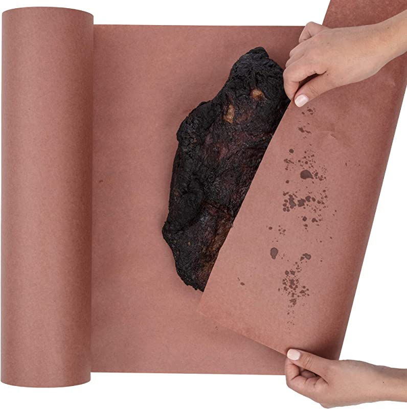 Butcher Paper Roll USA Made Fda Approved For BBQ And Meat Smoking Natural Unbleached Paper By DIY Crew Pink 24 X200