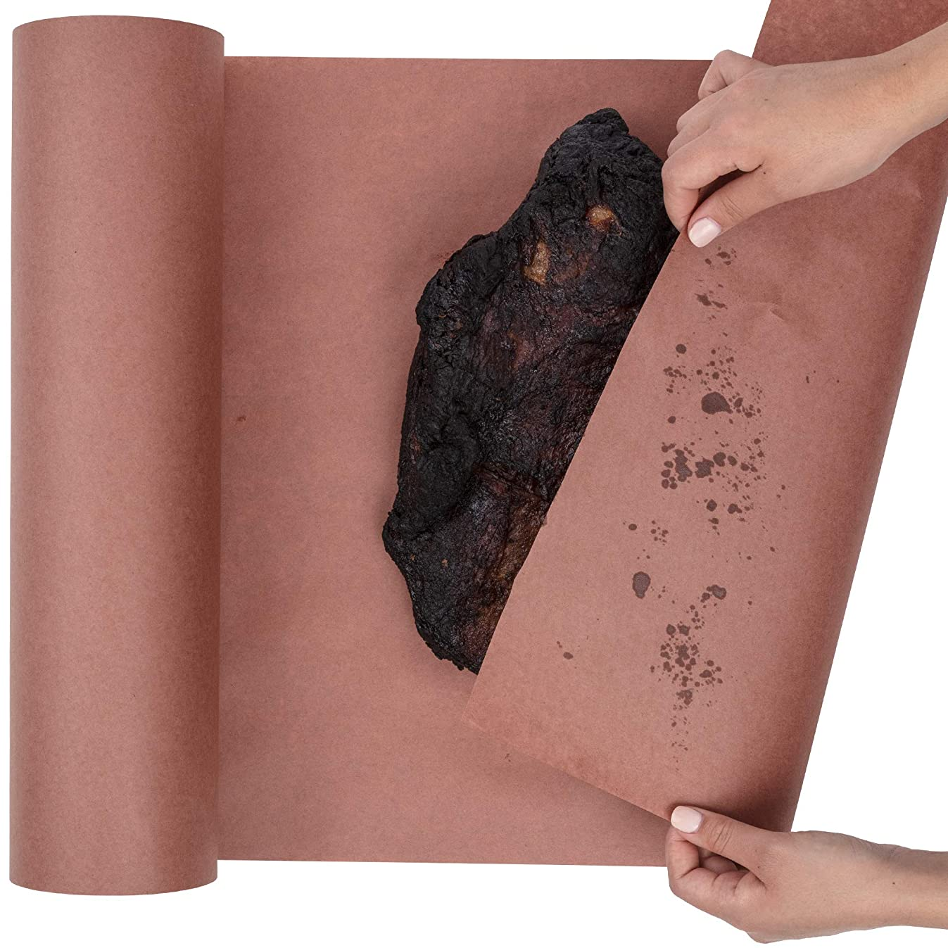 Butcher Paper Roll USA Made, Fda Approved, for BBQ and Meat Smoking. Natural Unbleached Paper by DIY Crew (Pink, 24