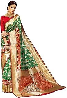 ELINA FASHION Sarees for Women Banarasi Art Silk Woven Saree l Indian Wedding Wear Sari