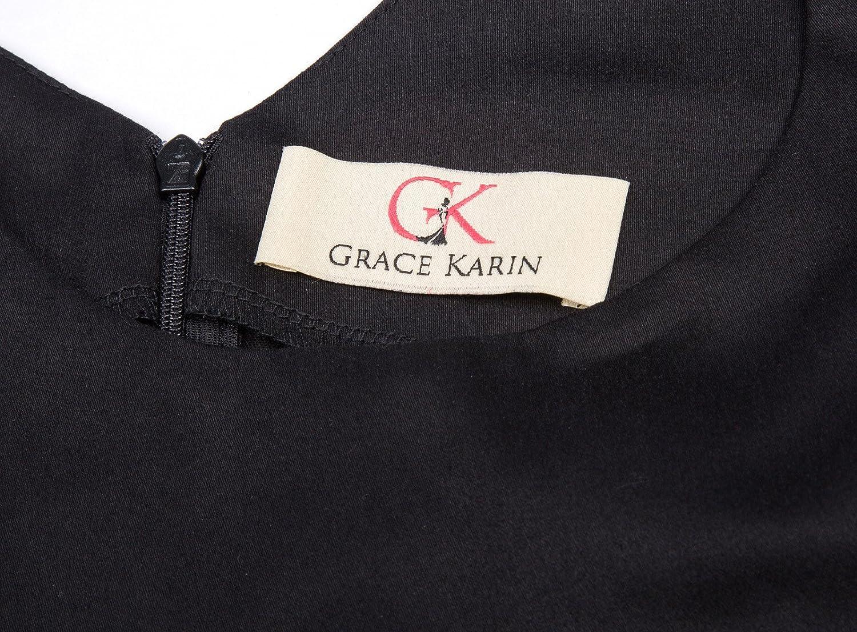 GRACE KARIN Maedchen Vintage A-Linie Blumen Kleid CL010600