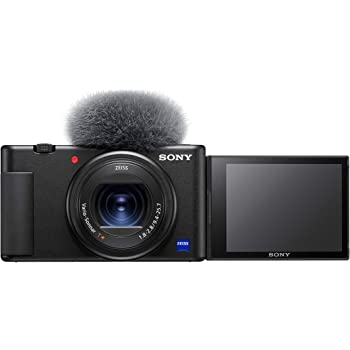 Sony Digital Vlog Camera ZV-1 Only (Compact, Video Eye AF, Flip Screen, in-Built Microphone, 4K Vlogging Camera and Content Creation) – Black