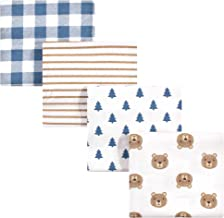 Hudson Baby Unisex Baby Cotton Flannel Receiving Blankets, Little Bear, One Size