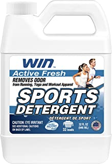 WIN Sports Laundry Detergent - Remove Sweaty Odor from Running Gym Microfiber Workout Clothes and Activewear Yoga Apparel...