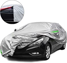 Tecoom Waterproof UV-Proof Windproof Design Car Cover with Zipper Storage and Lock for All Weather Indoor Outdoor Fit 191-200 inches Sedan